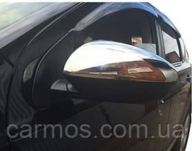 Накладки на зеркала Nissan Qashqai (ниссан кашкай) 2007 -, нерж