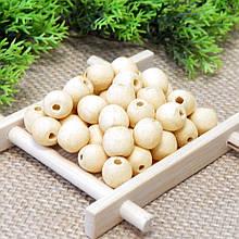 Бусины деревянные, бук, 10 мм (30 шт)