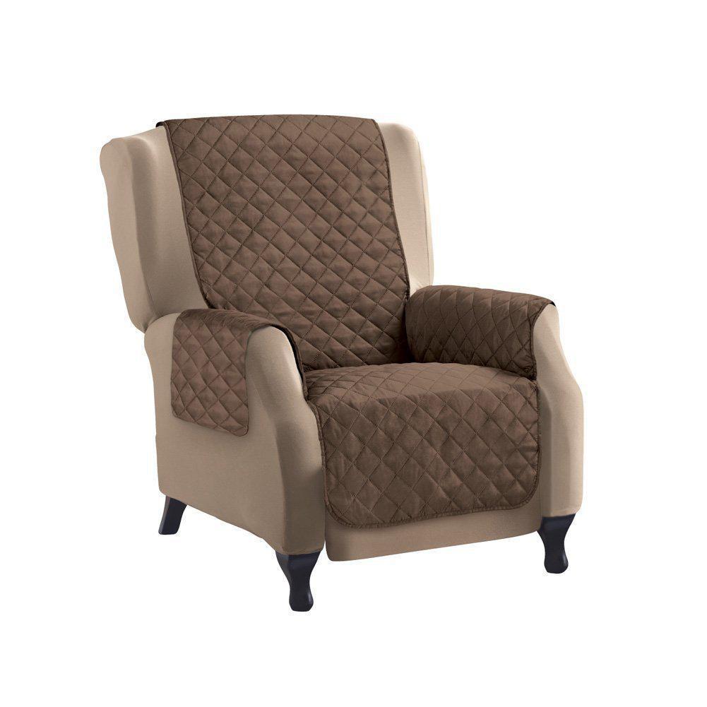 Накидка на крісло (155х46 см), Couch Coat - Коричнева, двостороннє стьобане покривало