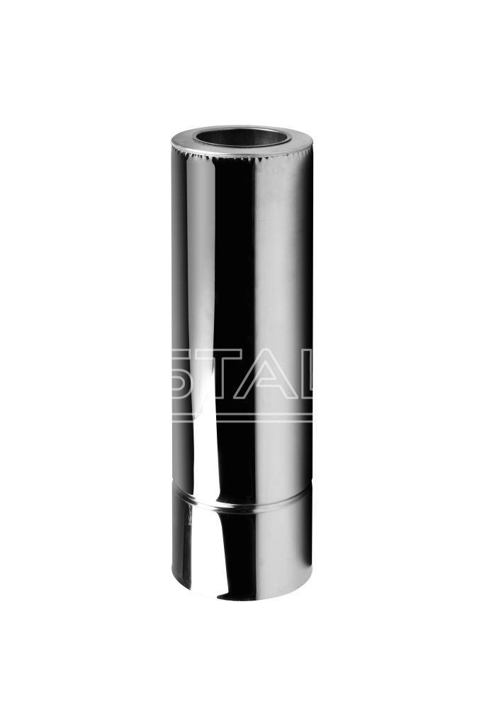 Труба термо ø 130/200 1 м 0.8 мм сталь нержавійка/нержавійка