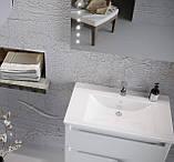 Тумба под умывальник в ванную 'ФОНДА AIR' 70 белая с умыв. 'Канте', фото 2