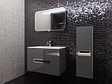 Кутова шафа для ванної кімнати Prato PrP-100 дуб трюфель, фото 4