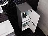 Кутова шафа для ванної кімнати Prato PrP-100 дуб трюфель, фото 7