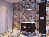 Шафа в ванну кімнату вологостійка Prato PrP-170 дуб трюфель, фото 6