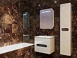 Шафа в ванну кімнату вологостійка Prato PrP-170 дуб трюфель, фото 9
