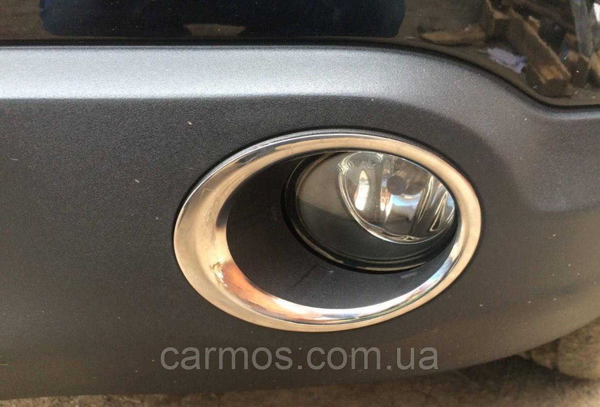 Накладки на противотуманки Nissan Qashqai (ниссан кашкай) 06-09, нерж
