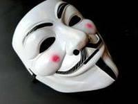 Маска Гая Фокса (Анонимус) белая пластиковая «V значит вендетта»