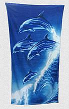 Рушник пляжний Дельфіни