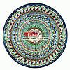 Ляган (узбекская тарелка) 45х5см для подачи плова керамический (ручная роспись) (вариант 5)