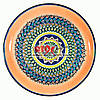 Ляган (узбекская тарелка) 45х5см для подачи плова керамический (ручная роспись) (вариант 7)