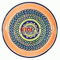 Ляган (узбекская тарелка) 45х5см для подачи плова керамический (ручная роспись) (вариант 7), фото 1