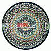Ляган (узбекская тарелка) 45х5см для подачи плова керамический (ручная роспись) (вариант 11)