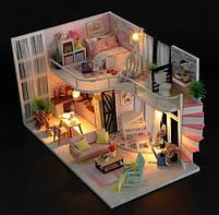 Конструктор для творчества DIY mini house MD 2505 М035, двухуровневая квартира, с подсветкой, фото 2