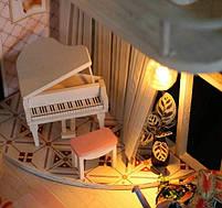 Конструктор для творчества DIY mini house MD 2505 М035, двухуровневая квартира, с подсветкой, фото 3