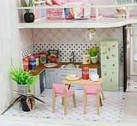 Конструктор для творчества DIY mini house MD 2505 М035, двухуровневая квартира, с подсветкой, фото 4