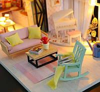 Конструктор для творчества DIY mini house MD 2505 М035, двухуровневая квартира, с подсветкой, фото 5