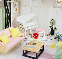 Конструктор для творчества DIY mini house MD 2505 М035, двухуровневая квартира, с подсветкой, фото 6