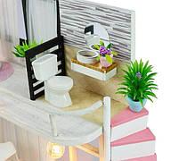 Конструктор для творчества DIY mini house MD 2505 М035, двухуровневая квартира, с подсветкой, фото 7