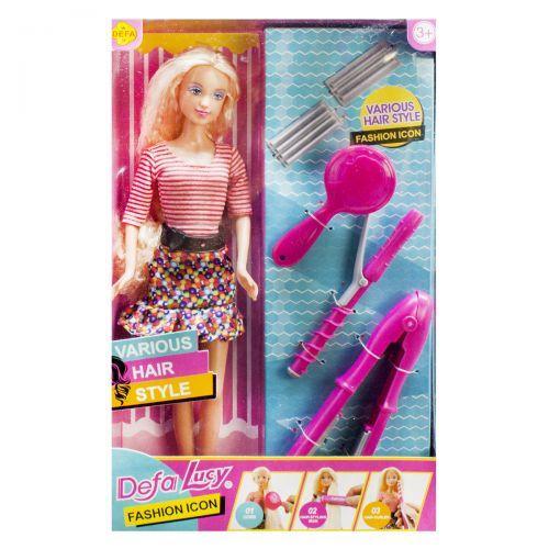 """Іграшкова лялька """"Defa Lucy: Стиліст"""" (кофта в смужку) 8381"""