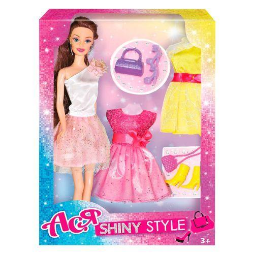 """Лялька з набором одягу та аксесуарами """"Ася"""" 35066"""