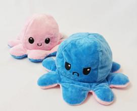 Двусторонняя кукла-осьминог, Милая плюшевая игрушка для детей