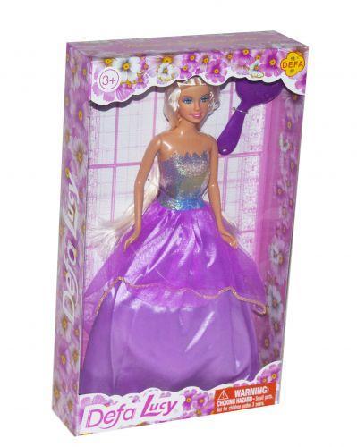 """Іграшка Лялька в розкішному бальному платті """"Defa Lucy"""" Принцеса (у фіолетовому) 8291"""