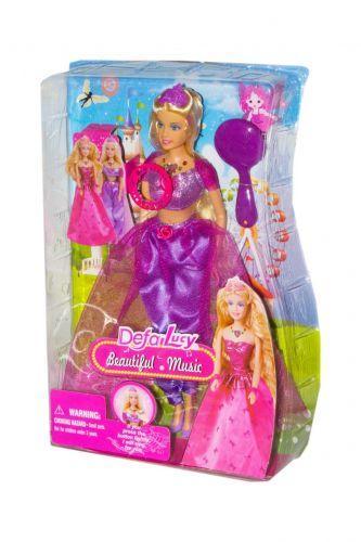 """Музична Іграшка Лялька """"Defa: принцеса"""" (у фіолетовому) 8265"""