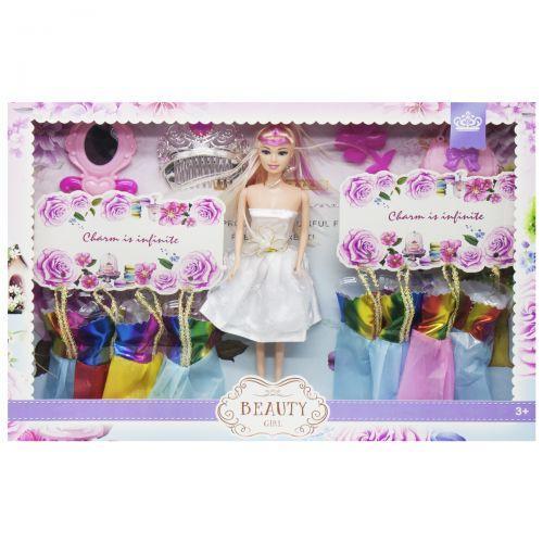 Игрушка Кукла с набором одежды (в белом платье) 013
