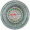Ляган (узбецька тарілка) 45х5см для подачі плову керамічний (ручна розпис) (варіант 22)