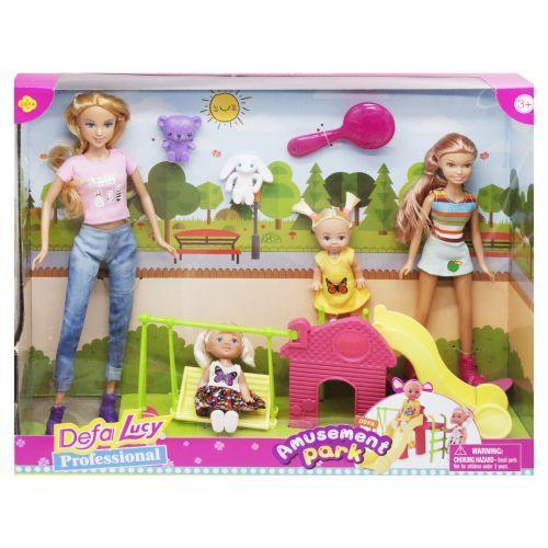 "Кукла барби с детьми ""Парк развлечений"", (аналог)"