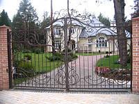 Распашные кованные ворота, фото 1