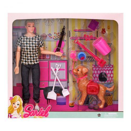 """Лялька Кен з собакою і аксесуарами """"Sariel"""" 7726-A3"""