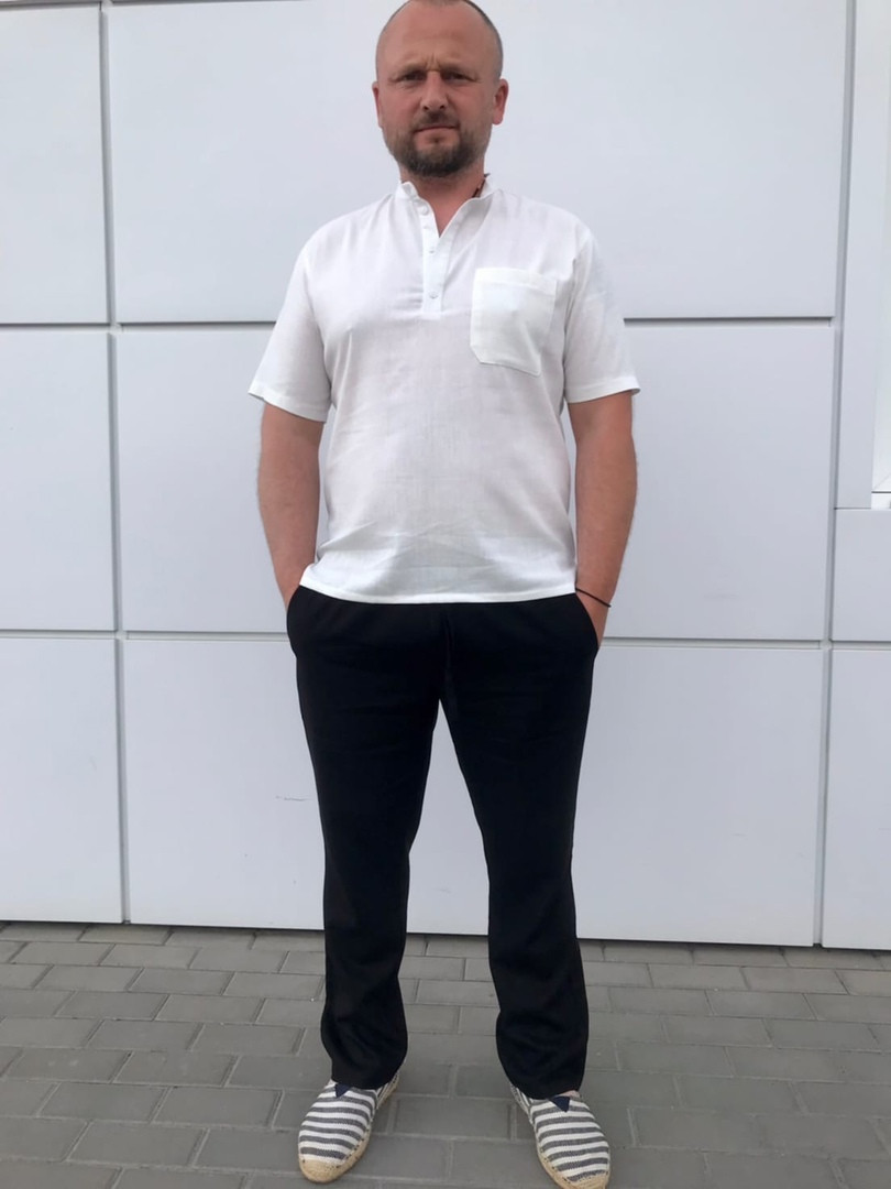 Мужские брюки лен