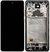 Дисплей для Samsung Galaxy A72 (A725, A726) модуль (экран) с черной рамкой, сервисный оригинал (GH82-25541A)
