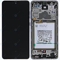 Дисплей для Samsung Galaxy A72 (A725, A726) модуль (экран) фиолетовой рамкой, сервисный оригинал (GH82-25541C)