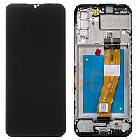 Дисплей для Samsung Galaxy A02s A025F/DS / M02s M025, модуль (экран, сенсор) с рамкой - передней панелью