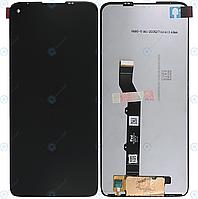 Дисплей для Motorola Moto G9 Plus (XT2087), модуль в сборе (экран и сенсор), черный, оригинал