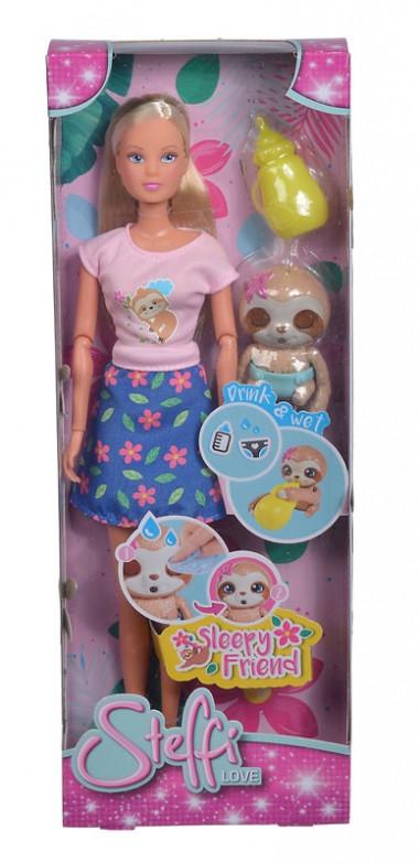 Іграшка лялька Штеффі зі сплячим ленивцем, Simba