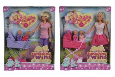 Лялька Штеффі з двома малюками і коляскою, Simba