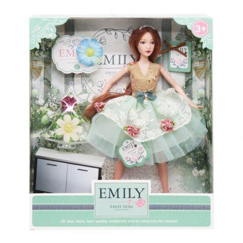 """Детская шарнирная кукла """"Emily Fashion Classics"""" с цветами QJ088B"""
