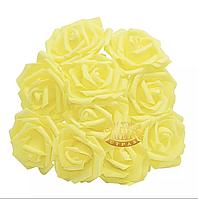 Розы из фоамирана Yellow, 1шт