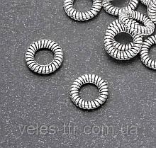 Коннектор кольцо Витое Сталь 9х5х2 мм