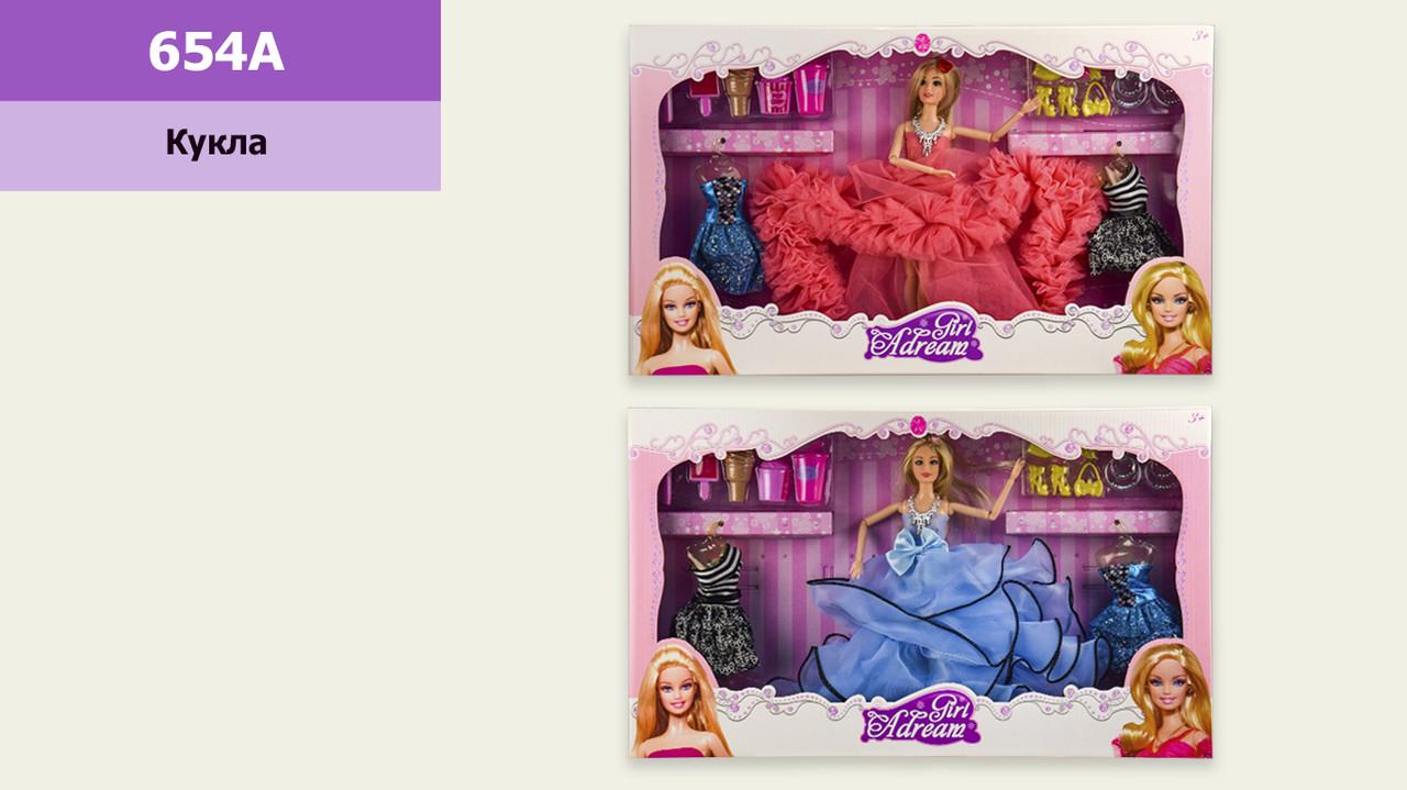 Кукла барби с платьями и аксессуарами (аналог)