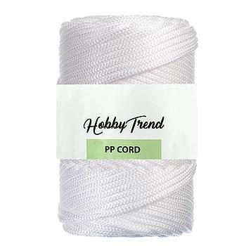 Полипропиленовый шнур Макраме Hobby Trend. Белый. 500г, 120м, 5 мм