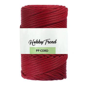 Полипропиленовый шнур Макраме Hobby Trend. Красный. 500г, 120м, 5 мм