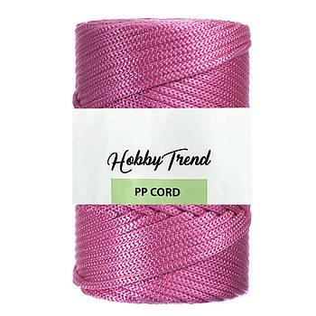 Полипропиленовый шнур Макраме Hobby Trend. Розовый фламинго. 500г, 120м, 5 мм