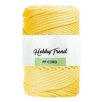 Полипропиленовый шнур Макраме Hobby Trend. Желтый. 500г, 120м, 5 мм