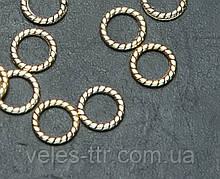Конектор кільце Вите античне Золото 8х6х1 мм