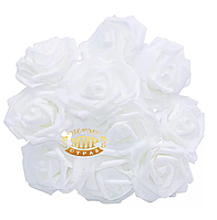 Розы из фоамирана White, 1шт
