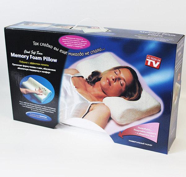 Ортопедическая подушка из пены с эффектом памяти Memory Pillow